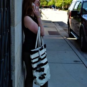 America & Beyond Bags - Midnight Mist Oversize Fairtrade Tote Bag